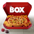 The BOX large pan pizza
