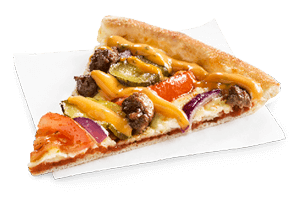 Cheeseburger pizza*